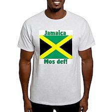 Jamaica Flag Mos def! Ash Grey T-Shirt