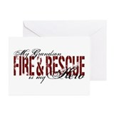 Grandson My Hero - Fire & Rescue Greeting Cards (P
