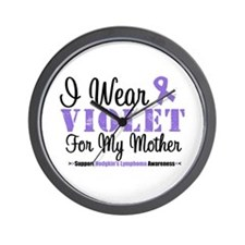 I Wear Violet For My Mother Wall Clock