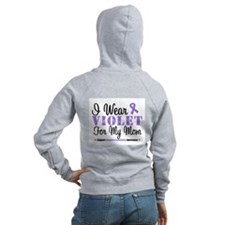 I Wear Violet For My Mom Zip Hoodie