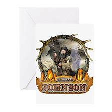 Liver eating Johnson Jeremiah Greeting Cards (Pk o