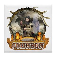 Liver eating Johnson Jeremiah Tile Coaster
