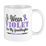 I Wear Violet Granddaughter Small Mugs