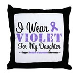I Wear Violet Ribbon Daughter Throw Pillow