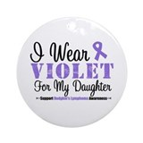 I Wear Violet Ribbon Daughter Ornament (Round)