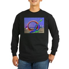 Fantasy Beach Long Sleeve Dark T-Shirt