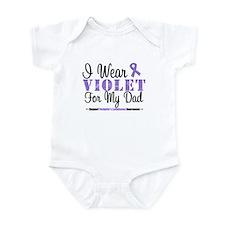I Wear Violet For My Dad Infant Bodysuit