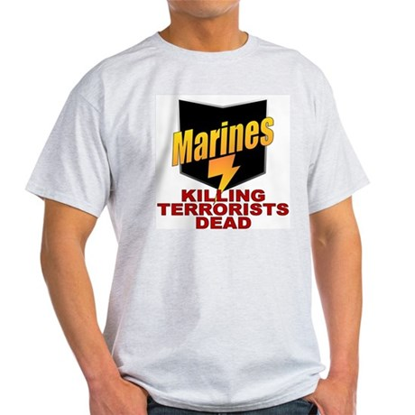 USMC Killing Terrorists Ash Grey T-Shirt