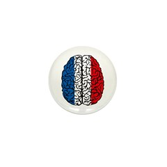 Brain France Mini Button (10 pack)