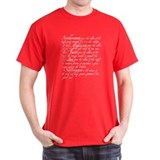 T-Shirt - Five Principle Virtues of the Order