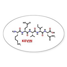 Kevin name molecule Oval Decal