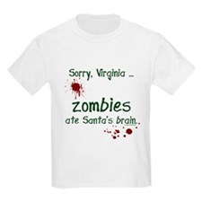 Zombies ate santa's brain T-Shirt