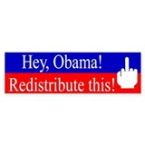 Redistribute this! Bumper Bumper Sticker
