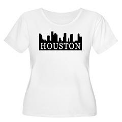 Houston Skyline Women's Plus Size Scoop Neck T-Shi