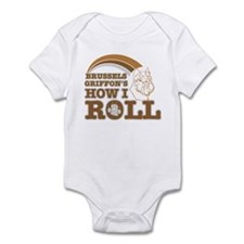 brussels griffon's how I roll Infant Bodysuit