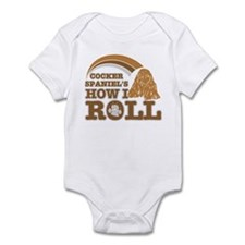 cocker spaniel's how I roll Infant Bodysuit