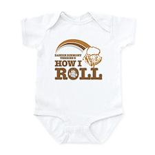 dandie dinmont terrier's how I roll Infant Bodysui