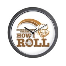 dandie dinmont terrier's how I roll Wall Clock
