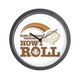 glen of imaal terrier's how I roll Wall Clock