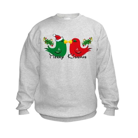 Lovebirds Merry Kissmas Kids Sweatshirt