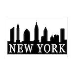 New York Skyline Mini Poster Print