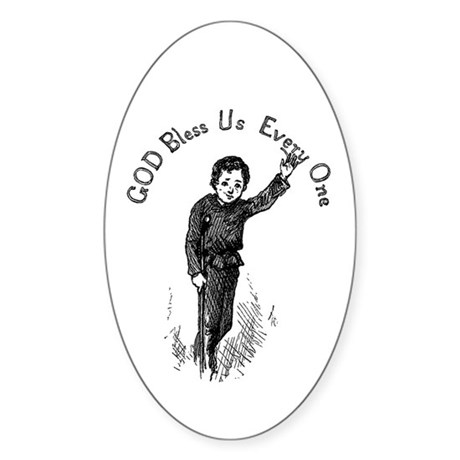 Tiny Tim Oval Sticker