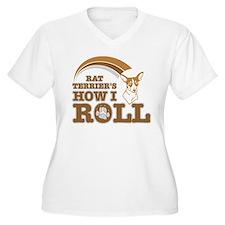 rat terrier's how I roll T-Shirt