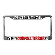 Norfolk Terrier License Plate Frame