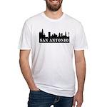 San Antonio Skyline Fitted T-Shirt