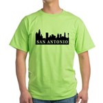 San Antonio Skyline Green T-Shirt