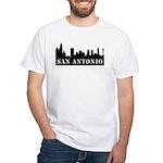 San Antonio Skyline White T-Shirt