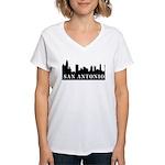 San Antonio Skyline Women's V-Neck T-Shirt