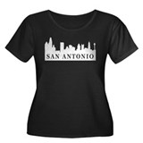 San Antonio Skyline Women's Plus Size Scoop Neck D