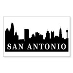 San Antonio Skyline Rectangle Sticker
