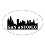San Antonio Skyline Oval Sticker (10 pk)