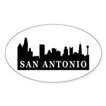 San Antonio Skyline Oval Sticker (50 pk)