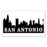 San Antonio Skyline Rectangle Sticker 10 pk)