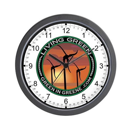 Green in Greene Skystream Wall Clock