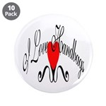 "I Love Handbags 3.5"" Button (10 pack)"