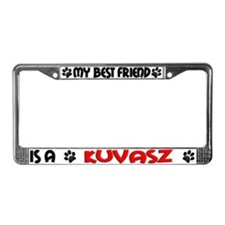 Kuvasz License Plate Frame