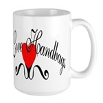 I Love Handbags Large Mug