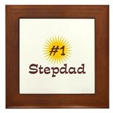 #1 Stepdad Framed Tile