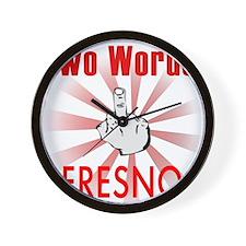 Unique Fresno Wall Clock