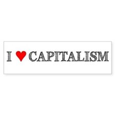 I Love Capitalism Bumper Bumper Sticker