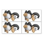 Baby Tux 4-up Rectangle Sticker