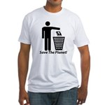 Save The Planet Fitted T-Shirt