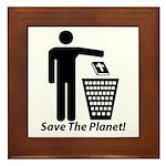 Save The Planet Framed Tile