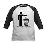 Save The Planet Kids Baseball Jersey