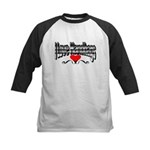 I Love Handbags Kids Baseball Jersey