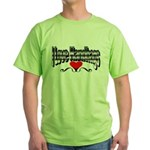 I Love Handbags Green T-Shirt